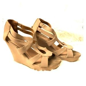 Taupe Wedge Sandal